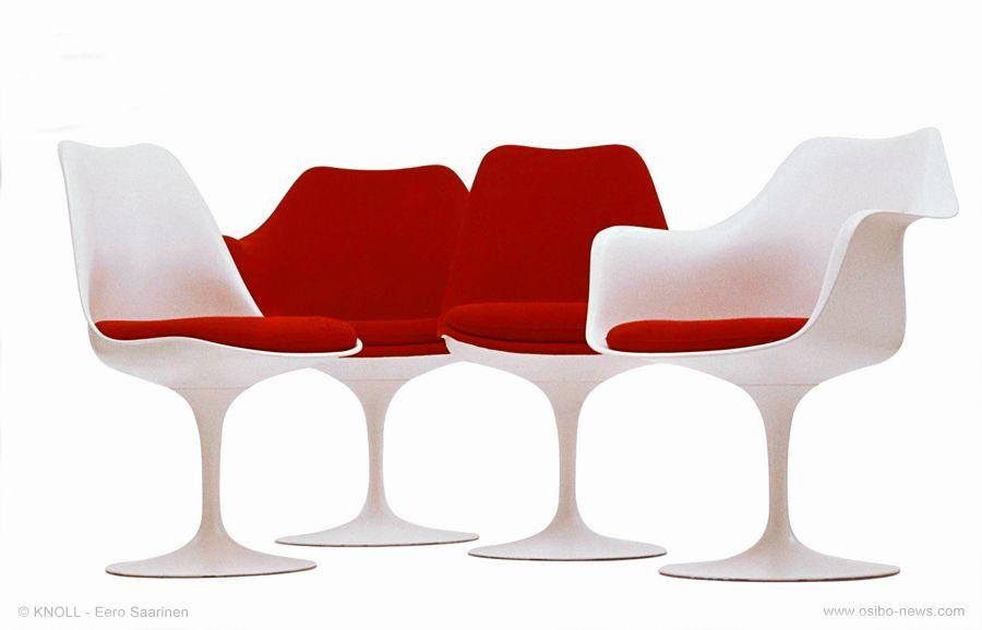 Sedie Saarinen ~ Chaise tulip eero saarinen  design mobilier