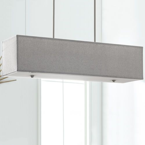 Rectangular chandelier lighting large pendant island light long rectangular chandelier lighting large pendant island light long gray shade lamp aloadofball Gallery