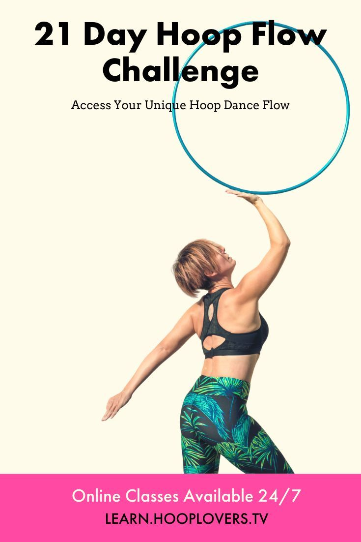 Get that body moving with Deanne Loves 21 Day Hoop Flow Challenge. #fitness #workout #hulahoop #Begi...