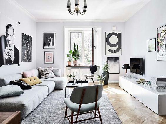 Das Ecksofa ist der Allrounder in unserem Wohnzimmer - groß - wohnzimmer modern gemutlich