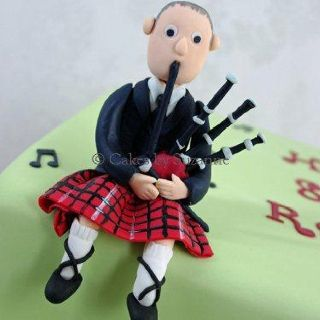 Bagpipes Cake Topper