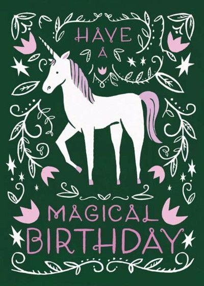 Magical Birthday Personalised Birthday Card Geekery Pinterest