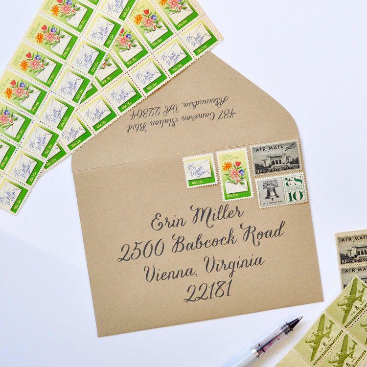 Letters Lift Spirits Vintage Stamp Set Vintage stamps