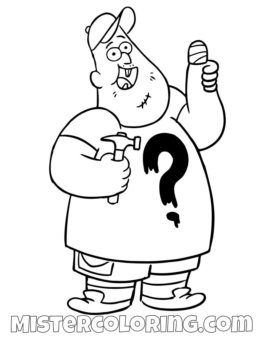 Soos Ramirez Gravity Falls Coloring Pages For Kids  Willkommen in