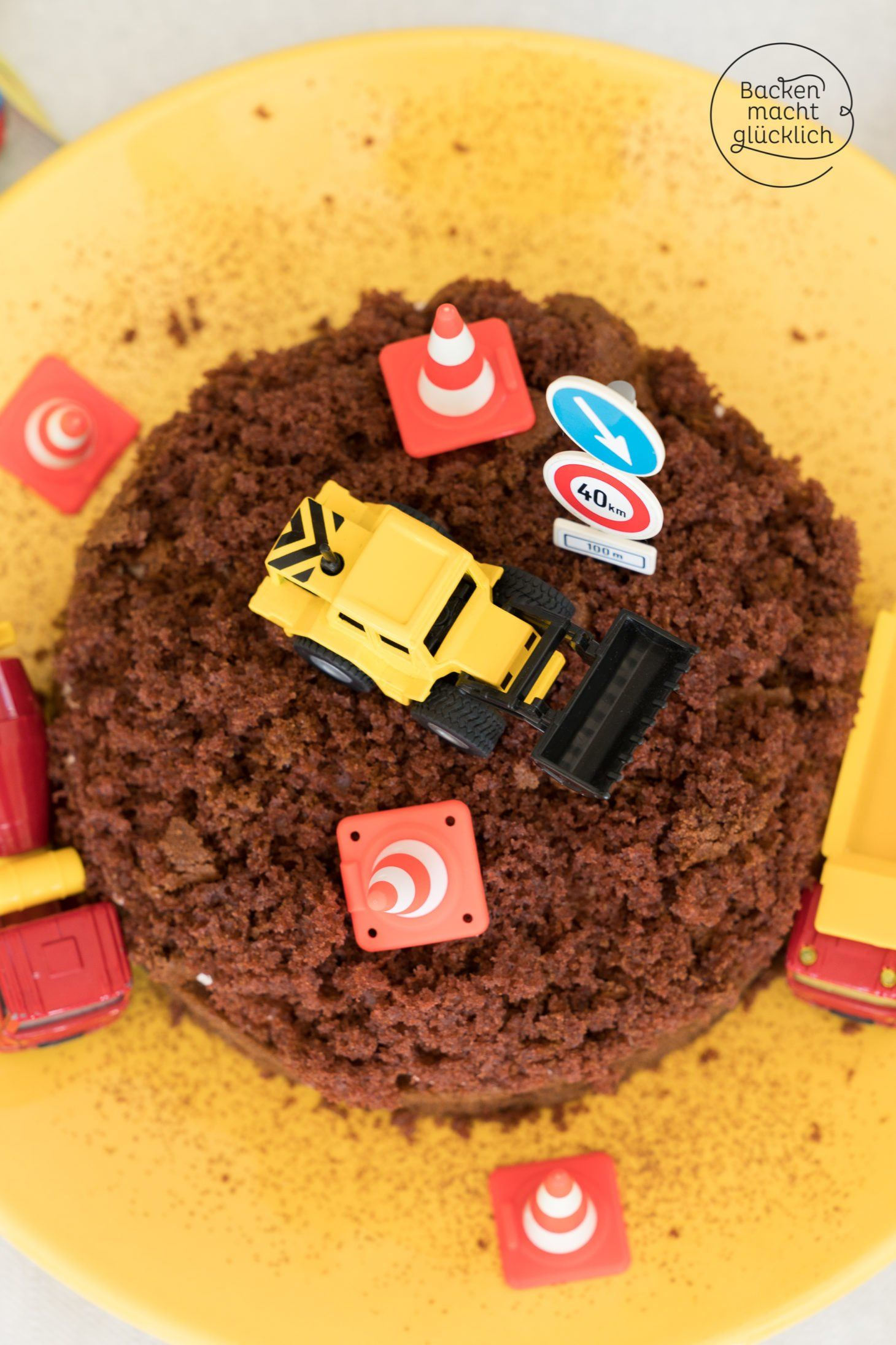 Einfache Baustellen Torte Rezept Bagger Torte Kuchen Und Backen Macht Glucklich