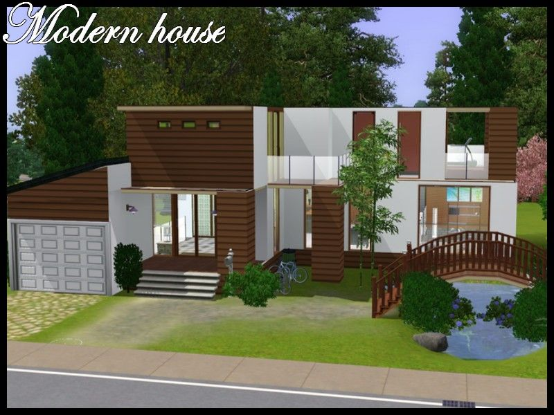 stunning modern houses sims 2 contemporary - simple design home