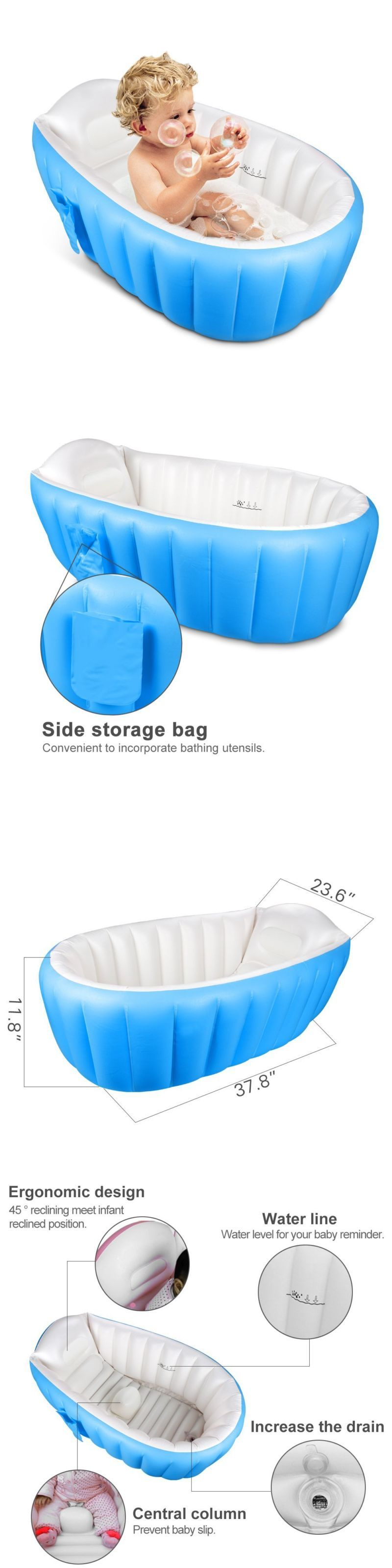Infant Baby Bath Tub Safety Seat Anti Slip Keter Rubber Pool ...