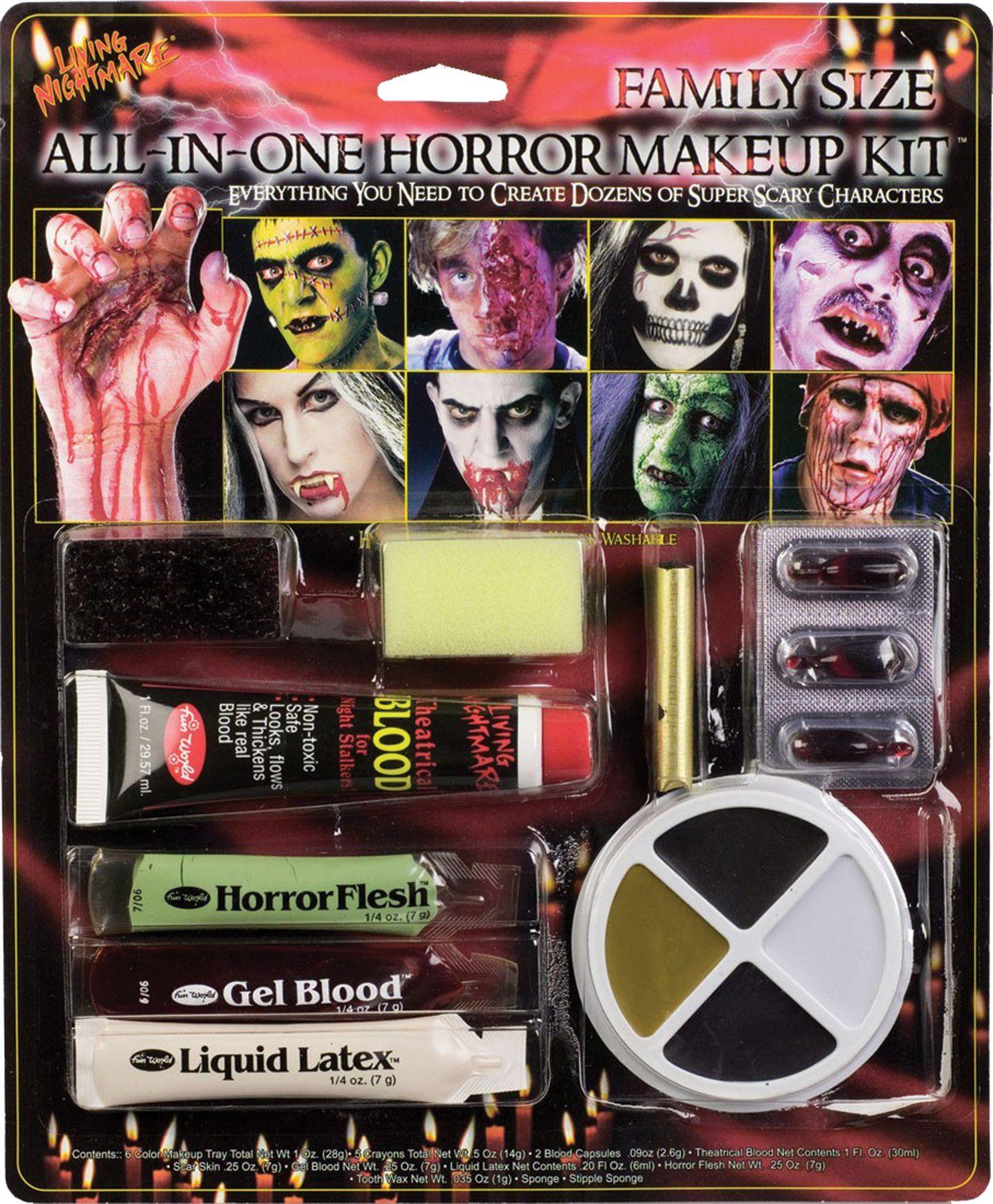 All In One Horror Makeup Kit Halloween makeup, Halloween