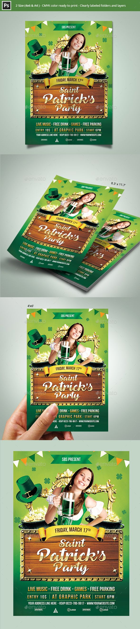 Flyer Samples For An Event St Patrick's Day Party Flyer Template  Flyer Template Party Flyer .