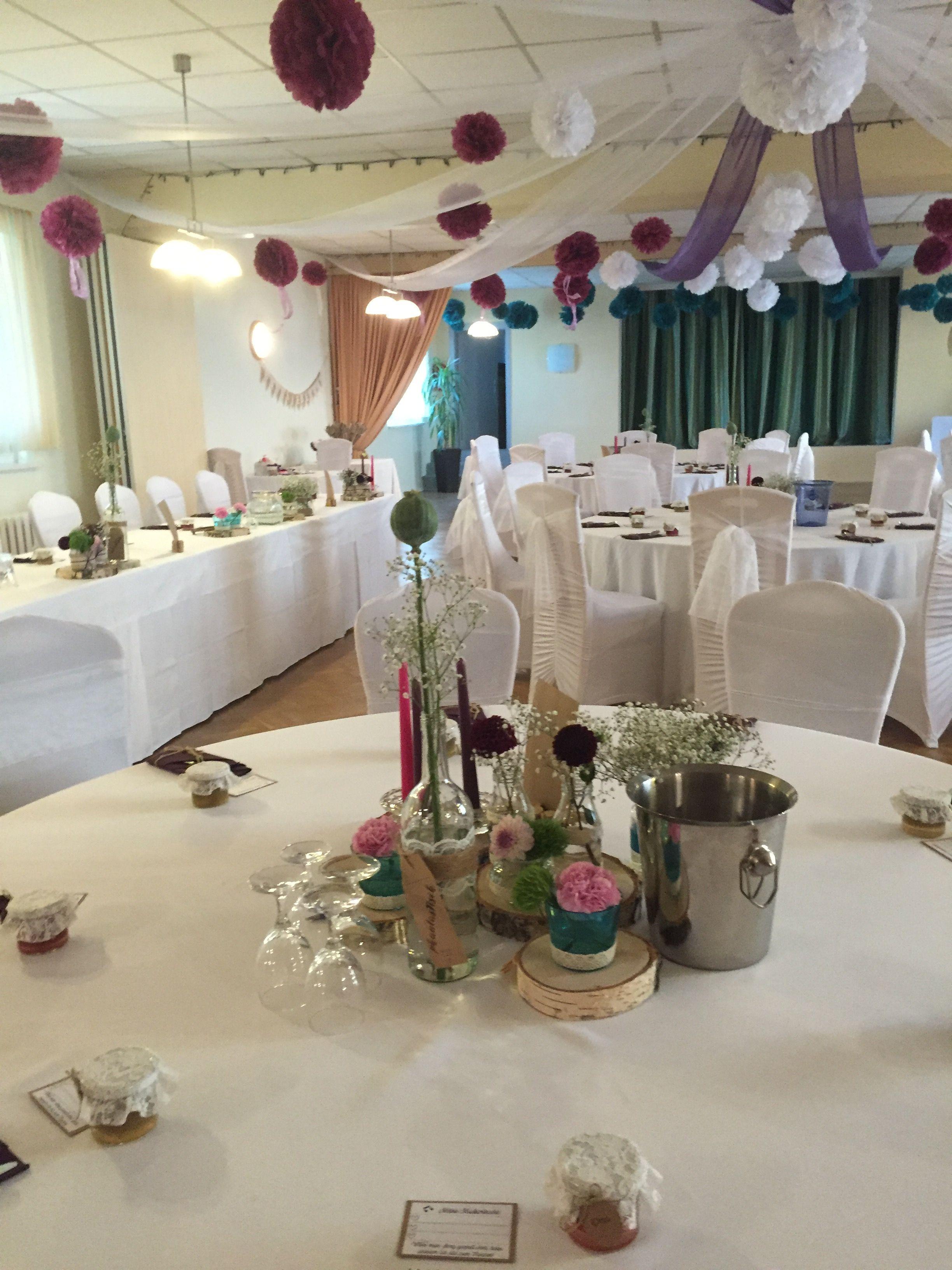 Deko Runde Tische Vintage Unsere Hochzeit Hochzeitsfeier Ideen