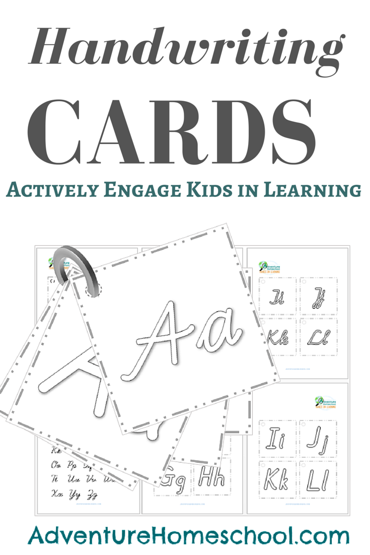 Home School Handwriting Cards Cursive And Pre Cursive Pinterest