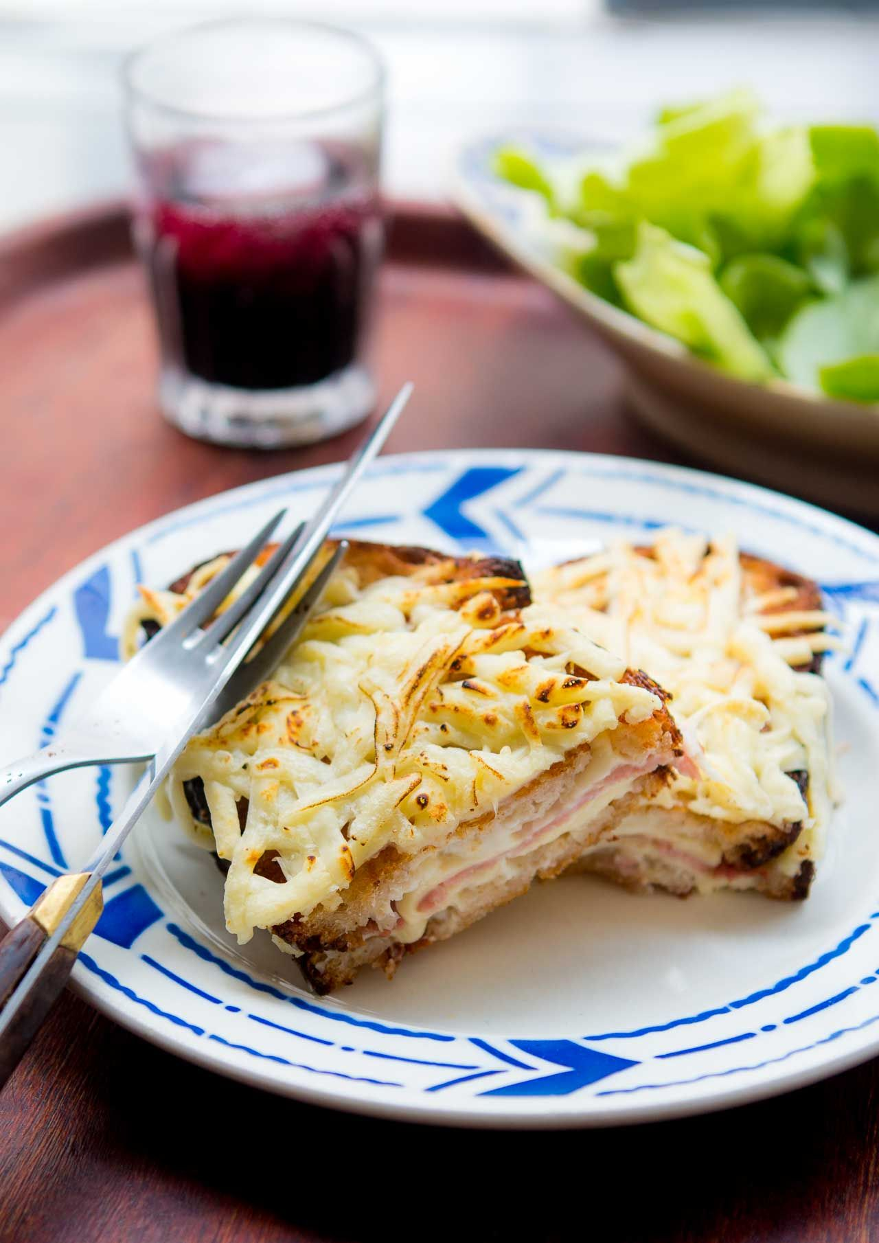 Croque Monsieur Recipe Wine Recipes Ham And Cheese Sandwich Appetizer Sandwiches