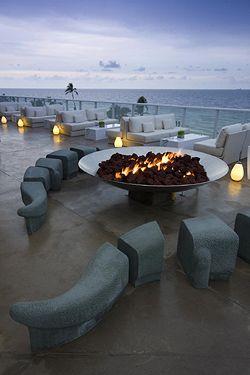 W Fort Lauderdale Honeymoon Registry Fire Pit Cool Fire Pits Backyard Fire