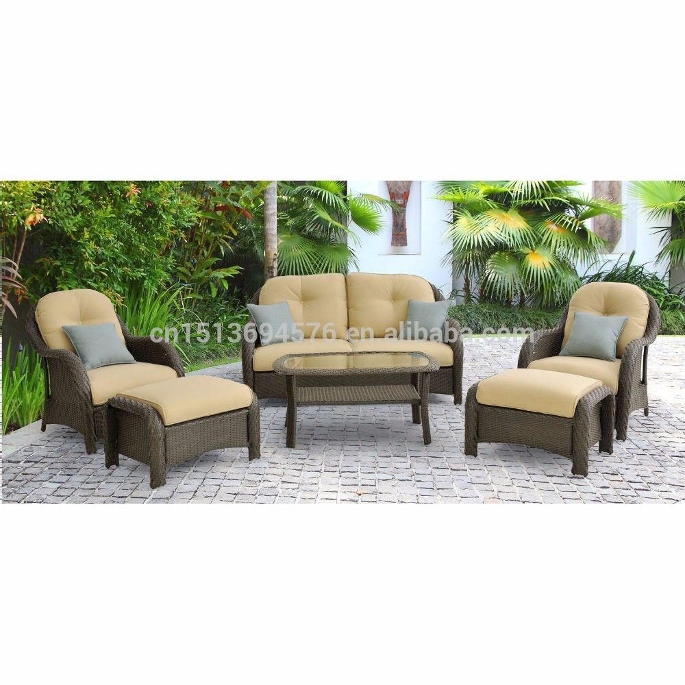 Modern american garden sectional rattan sofa outdoor patio furniture
