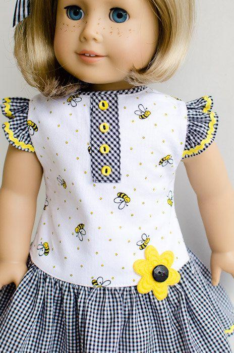 dress and hair ribbon kit