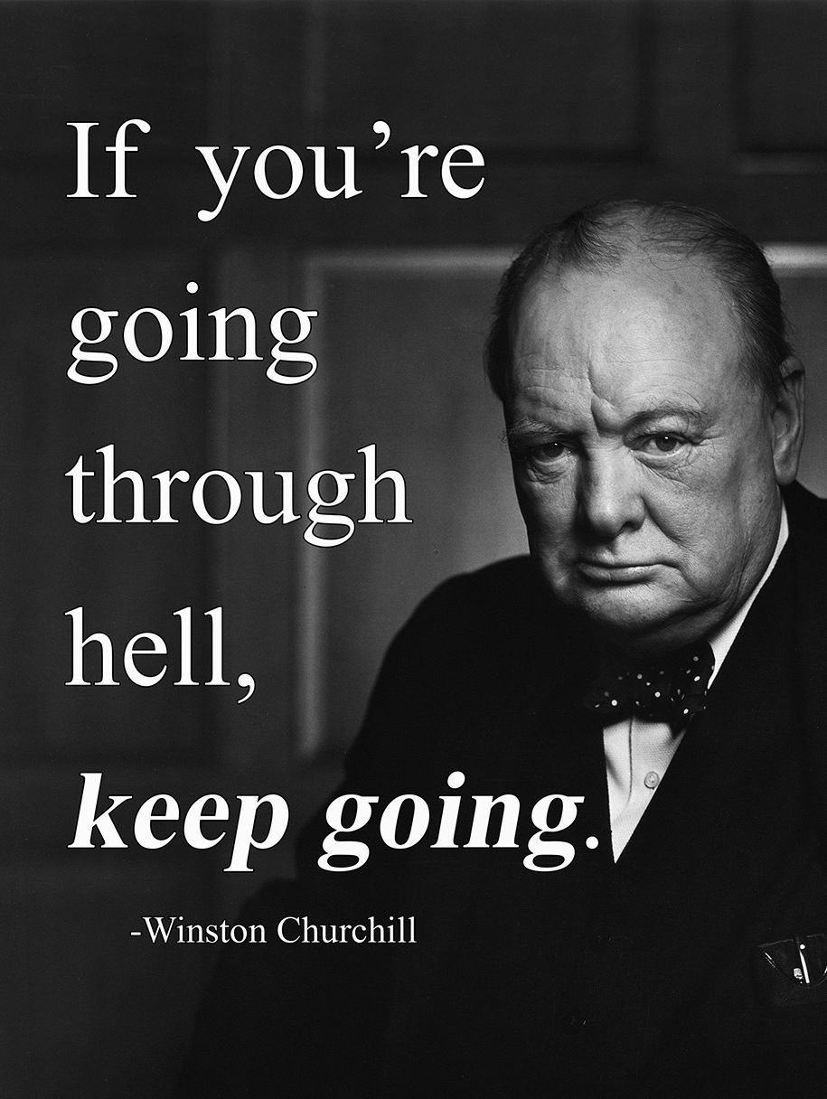 4 99 Gbp Metal Sign Inspirational Winston Churchill Quote