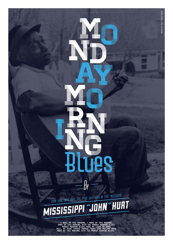 Print - Monday Morning Blues by William Boulay, via Behance