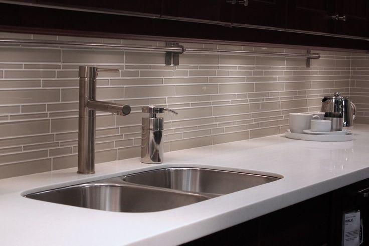 Subway Tile Kitchen Backsplash On Light Gray Glass Subway Tile Kitchen  Backsplash Bathroom Shower