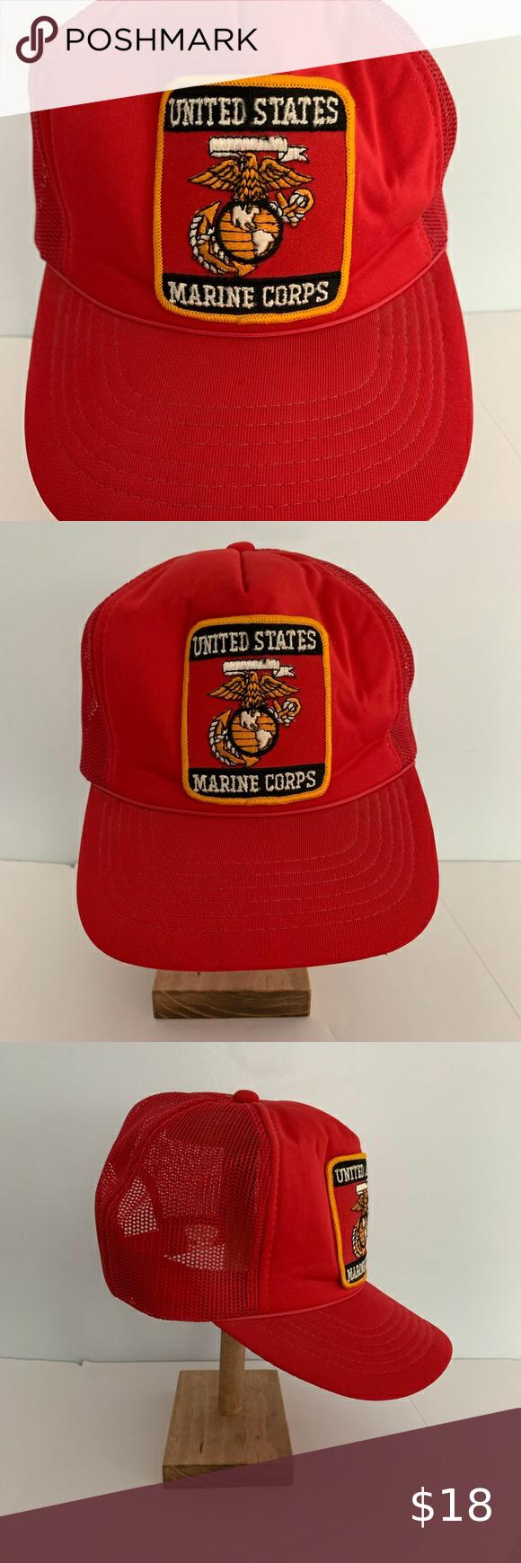 Us Marine Corps Patch Mesh Trucker Hat Snapback Mesh Trucker Hat Hat Fashion Trucker Hat
