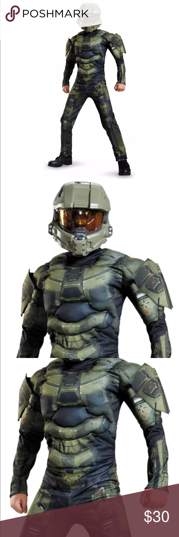 Maschere Costumi e travestimenti Disguise Master Chief Child Half