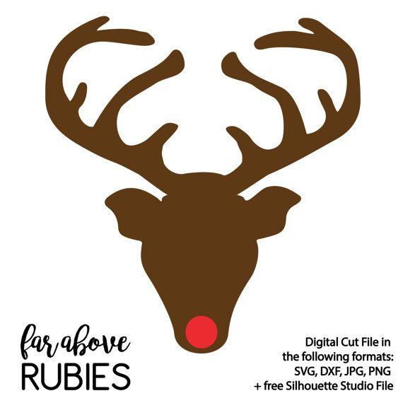 Christmas Svg File Reindeer Cut File Reindeer Clipart Png Cricut Download Dxf Silhouette Silent Night Reindeer SVG Svg
