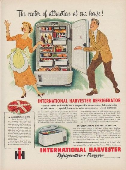 1949 International Harvester Ad The Center Of Attraction At Our