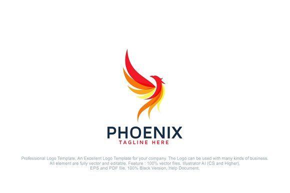 Phoenix Fire Bird Logo Template Bird Logo Design Logo Templates Bird Logos
