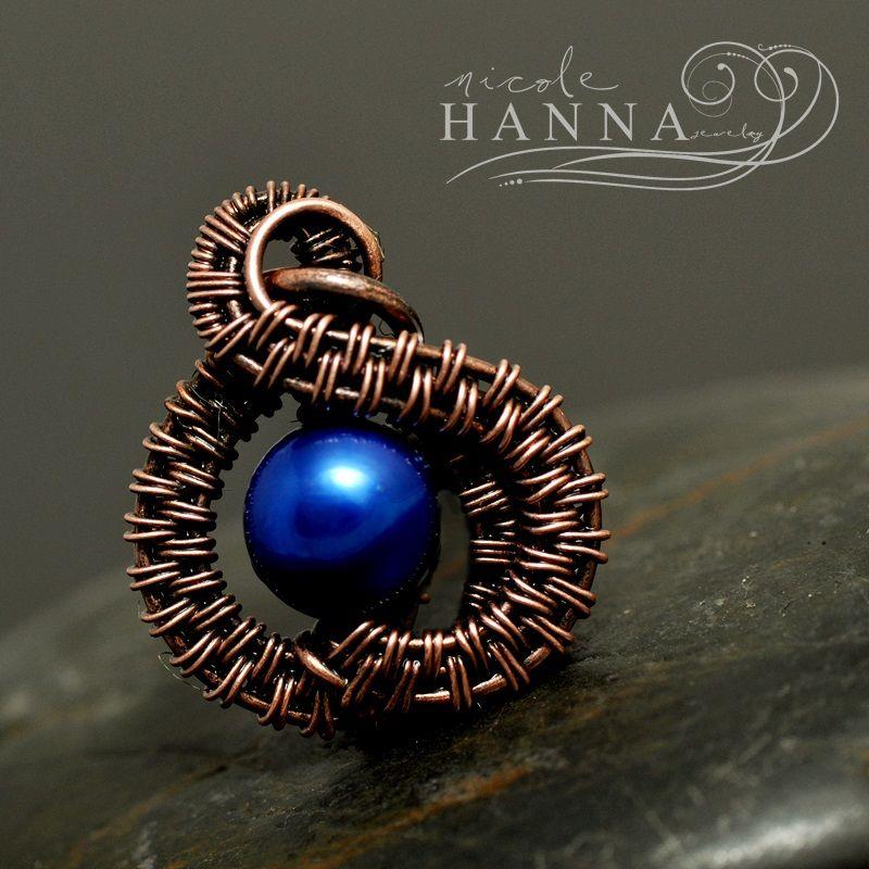 30% + 20% Off Rain Drop Charm, Wire Jewelry Tutorial by Nicole Hanna