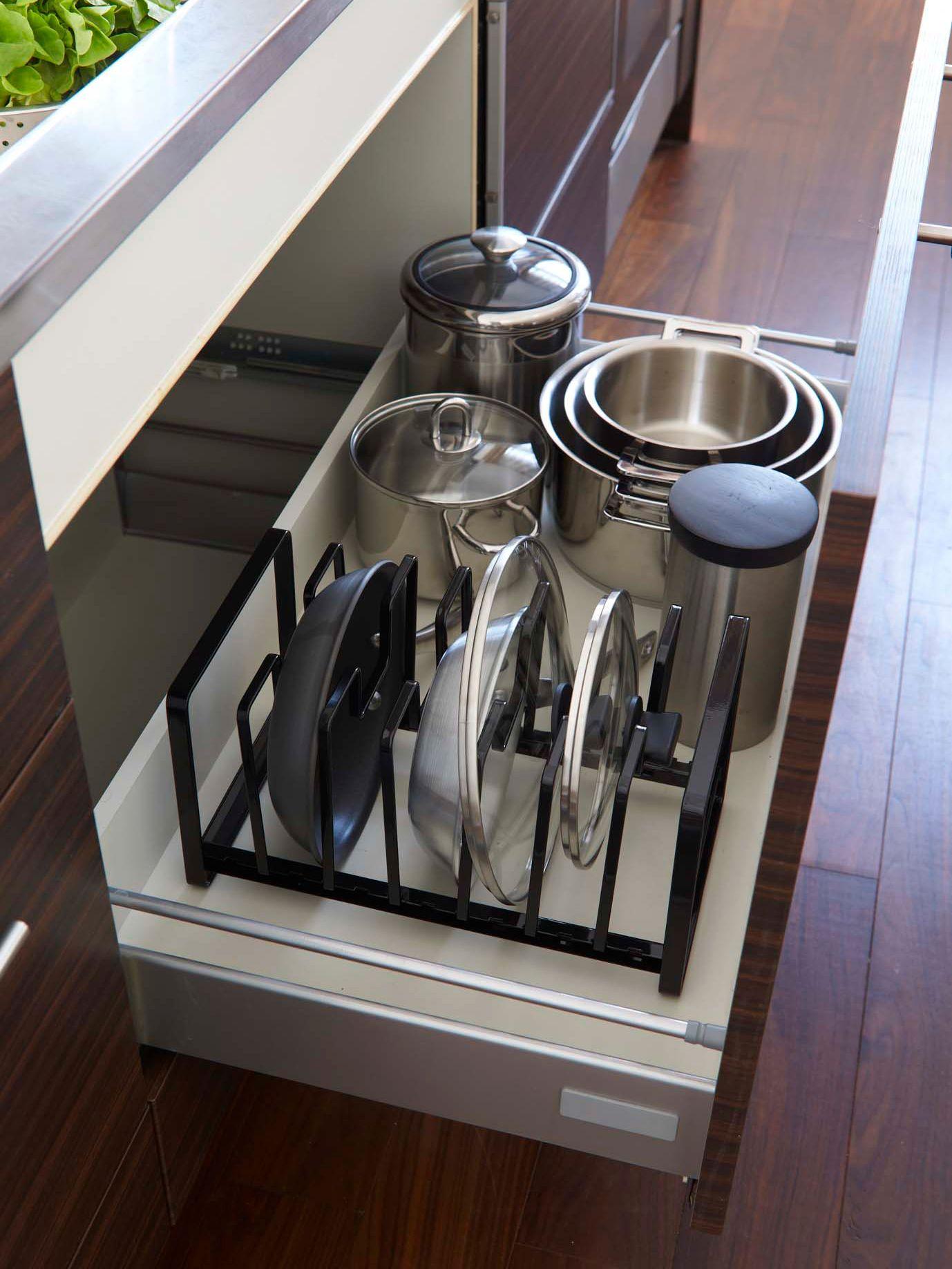 フライパンや鍋をまとめて収納 シンク下 シンク 収納