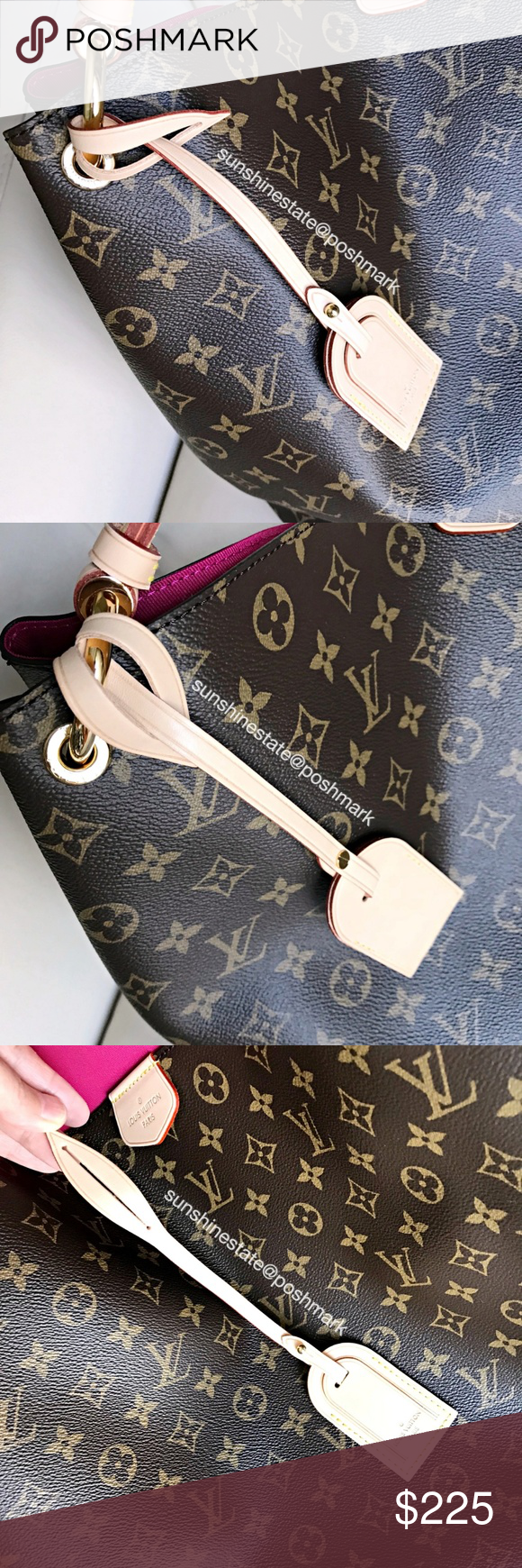 9f8d1f9138f Louis Vuitton Vachetta Luggage Tag Graceful mono New! Authentic! Comes from  my LV Graceful monogram bag in brand new never used condition as pictured.