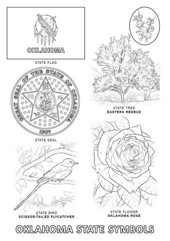 Oklahoma State Symbols Coloring Page From Oklahoma Category