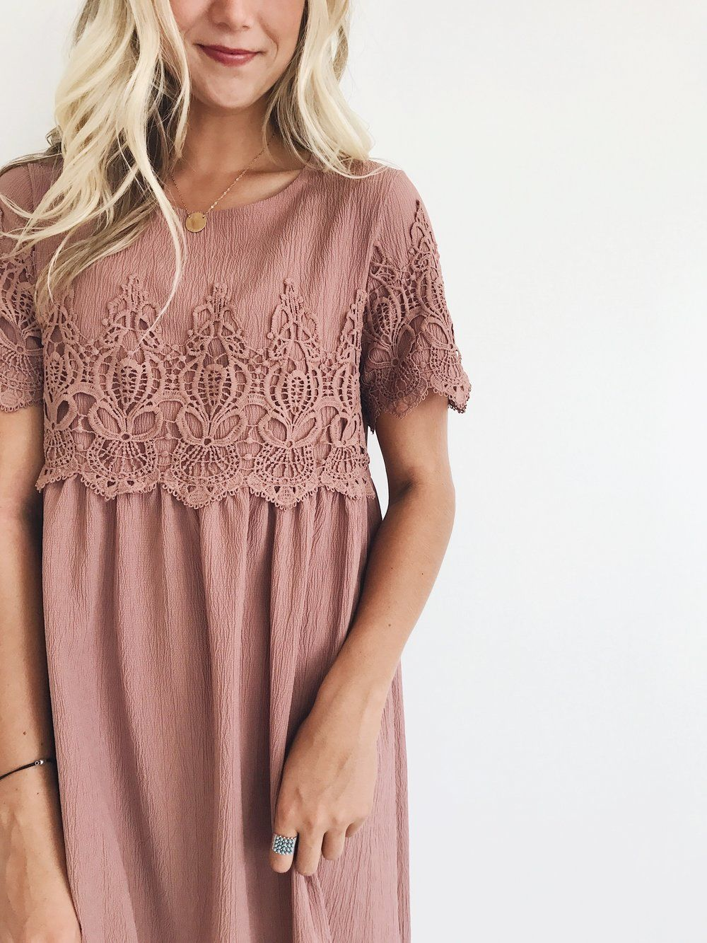 Simple lace dress styles  Pin by faith fleming on uemy style  Pinterest  Rock Clothes and Mauve