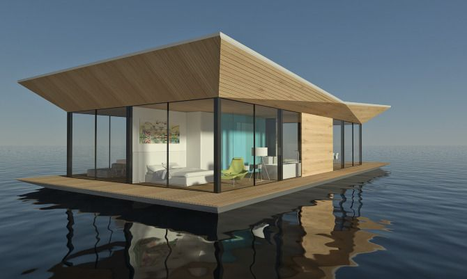 floating house dymitr malcew architect and designer
