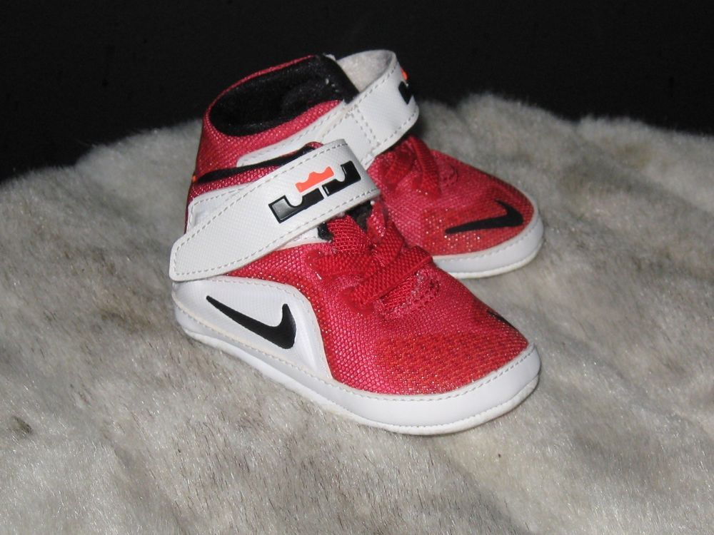 lowest price 92d2d 7fdf3 Nike Infant Lebron James The Twelve Baby Shoes Sz 2C Red ...