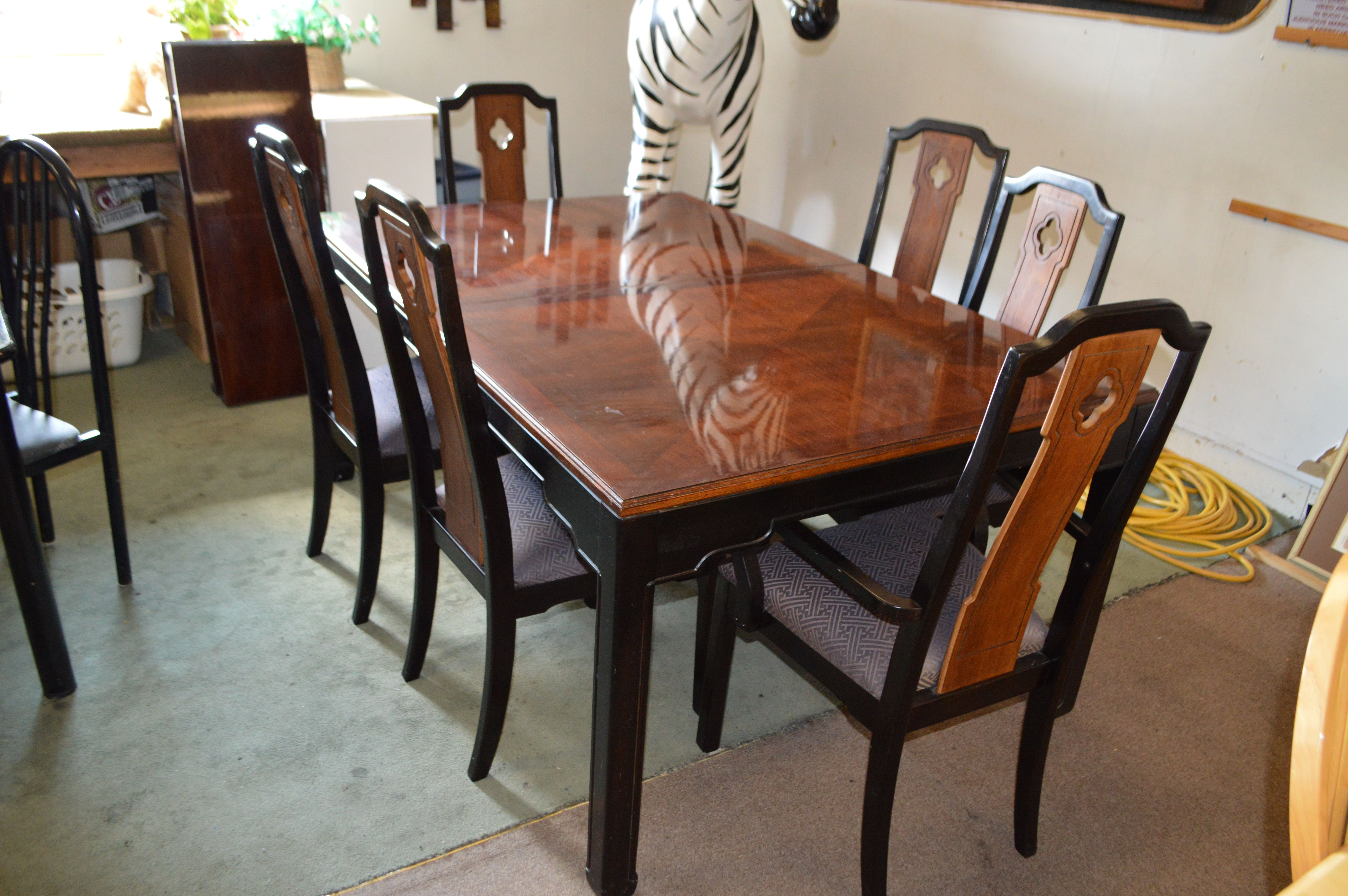 Thomasville Asian Style Dining Table Chairs In 2020 Dining Table Chairs Dining Chairs Dining Table