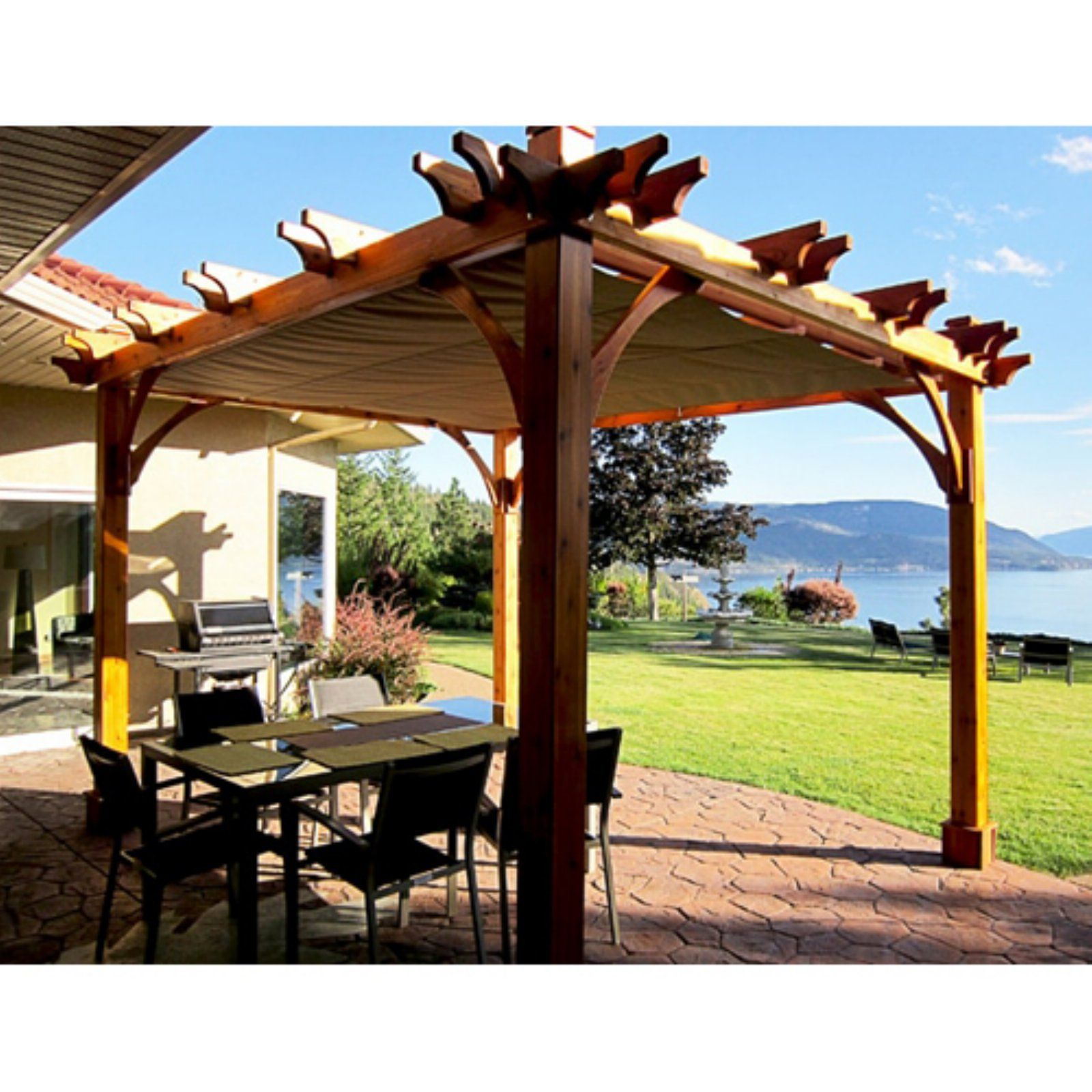 Outdoor Living Today Breeze 8 X 10 Ft Pergola With Retractable