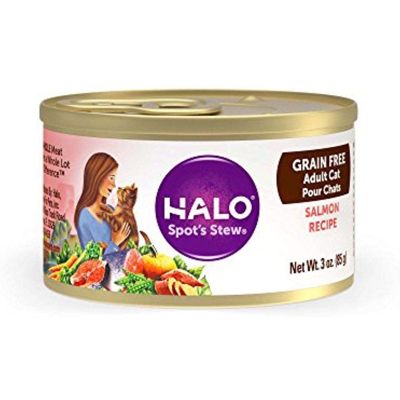 Halo spots stew natural cat food wild salmon recipe