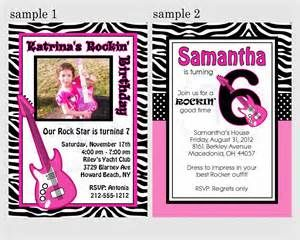 Rock Star Invitation Template Free Bing Images