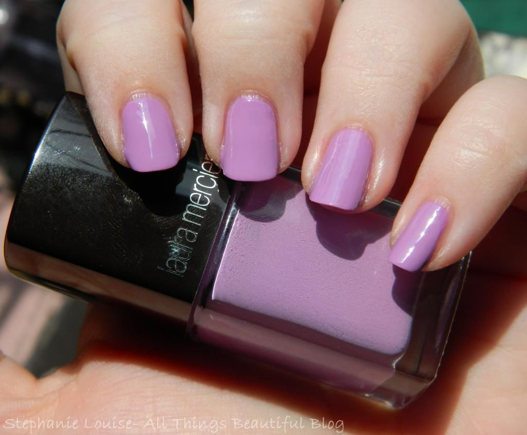 Laura Mercier Summer 2014 Collection Reviews- Laura Mercier Nail Lacquer in Reckless from Stephanie Louise- All Things Beautiful