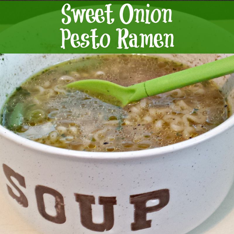 sweet onion pesto ramen recipe with images  quick soup