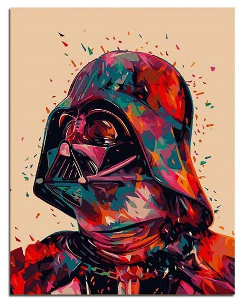 Darth Vader Paint by Number Kits, Star Wars DIY Painting