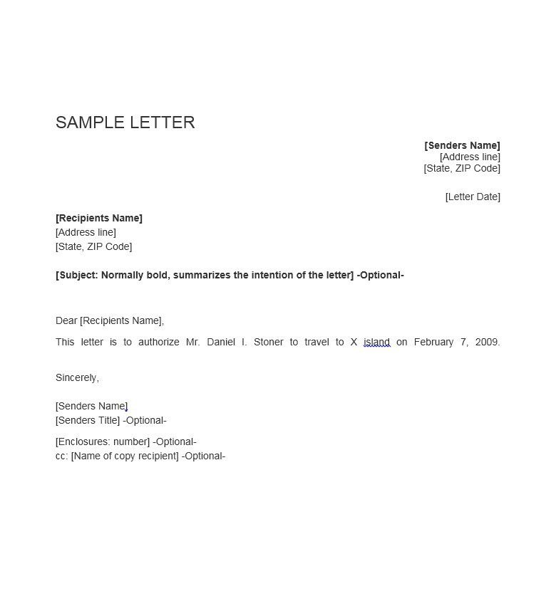 authorization letter samples amp templates template lab temporary - permission to travel letter template