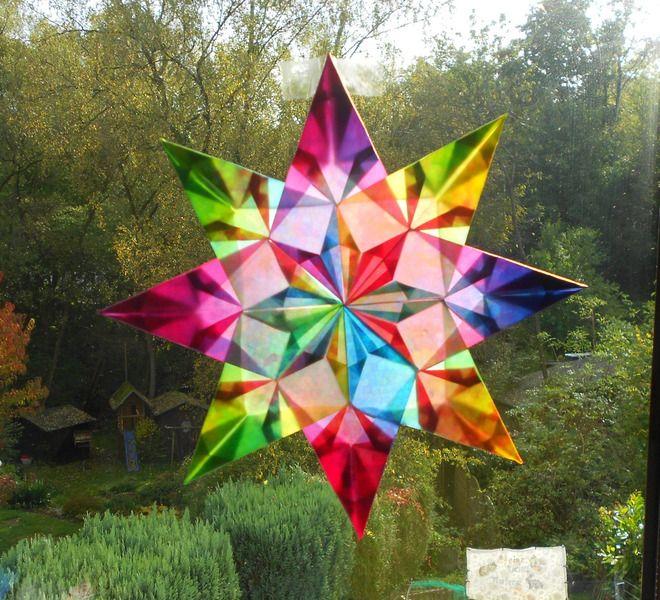 Transparentstern Nr.21 24cm *aus dickem Papier* von Candlestar auf DaWanda.com
