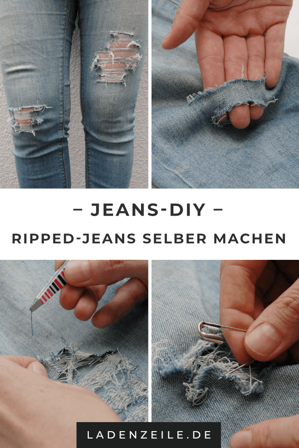Ripped Jeans: Dein Step by Step DIY | Destroyed jeans selber