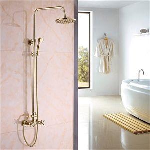 Moderne simple Robinet de douche Ti-PVD or salle de bains ...