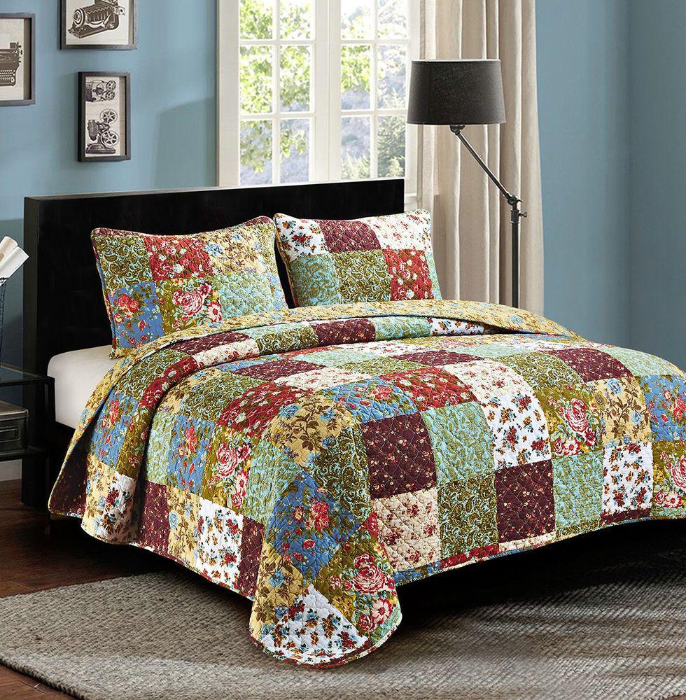 Floral Quilt Set Twin Vintage Garden Olivias Heartland