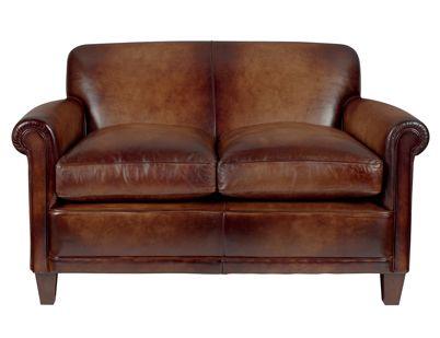 Burlington Leather Small 2 Seater Sofa