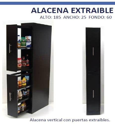 Alacena despensa cocina practica novedosa hogar for Alacenas de cocina modernas