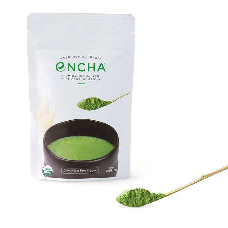 Ceremonial-Grade Encha Organic Matcha from Uji Japan in 60g resealable pouch