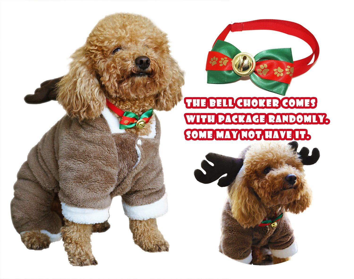 8c5ede618bd7 Another Me Cute Elf Pet Christmas Costume Santa Pet Apparel Deer Suit Cosplay  Dog Cat Puppy Winter Outwear Warm Clothes Hoodies Coat ** For more  information ...